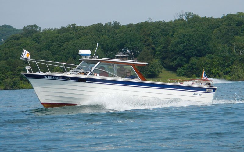 "1983 SkiffCraft Hardtop named ""Wave Toucher IV"" owned by Dick Baner"
