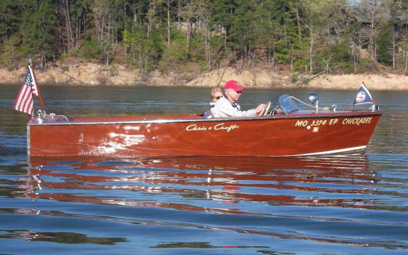 "1954 Chris Craft Cavalier named ""Chickadee"" owned by Richard and CaraMoist"