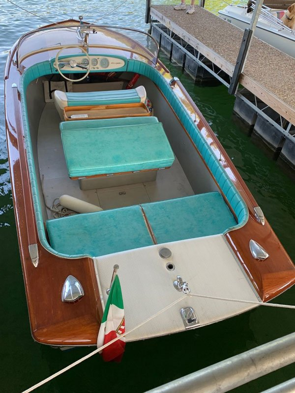 "1971 Riva Junior named ""Caviar Dreams"" owned by Paul Hastings. Photo by Karl Dietz"