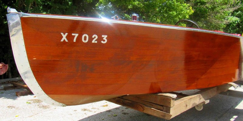 Auction of Antique Wooden Boat