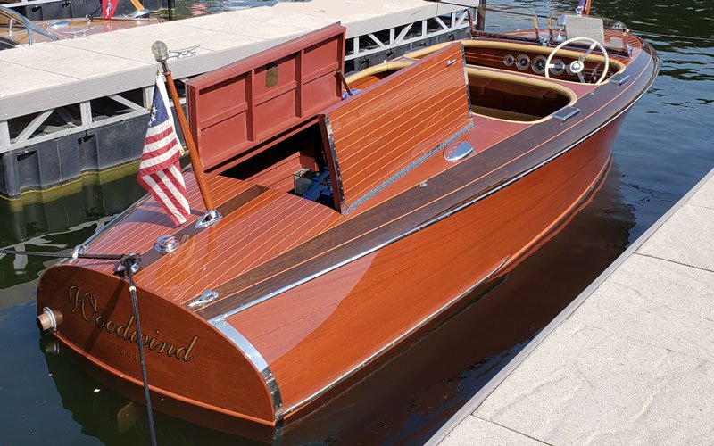 "1940 Chris Craft 19' Custom Barrel Back named ""Woodwind"" owned by Buddy & Sherri Butler"