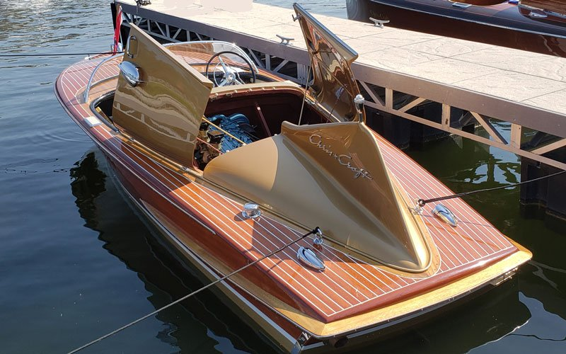 "1955 Chris Craft 18' Cobra named ""Fintastic"" owned by Steve  Spinharney"