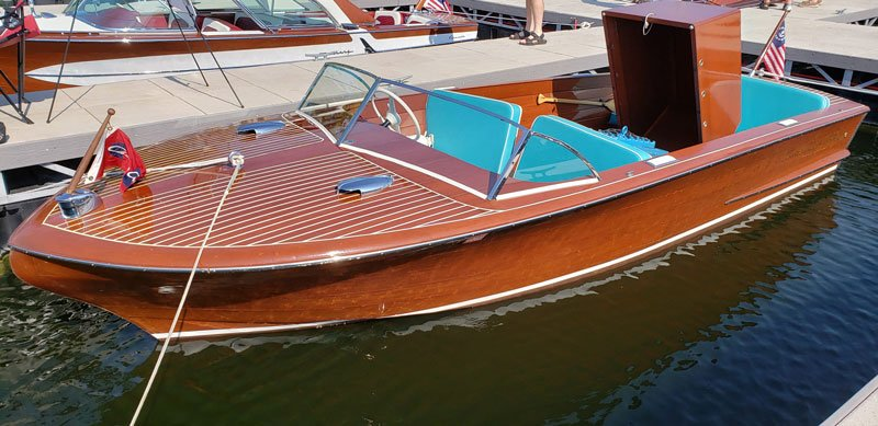 "1957 Chris Craft 20' Holiday named ""Carter-Rae"" owned by Stephen  Dagg"