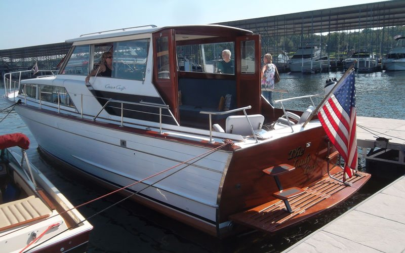 "1964 Chris Craft 36' Constellation named ""Lady Gay"" owned by Phil and Gay Hennage"