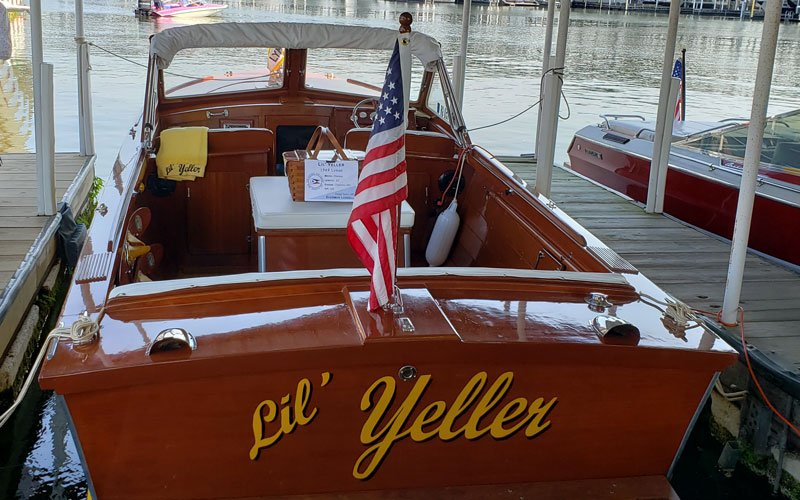 "1969 Lyman 22'4"" Sleeper named ""Lil' Yeller"" owned by Sherman Langell"