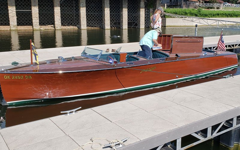 "1991 Hacker Craft 30' Triple named ""Untouchable"" owned by Jim and Marilyn Conner"